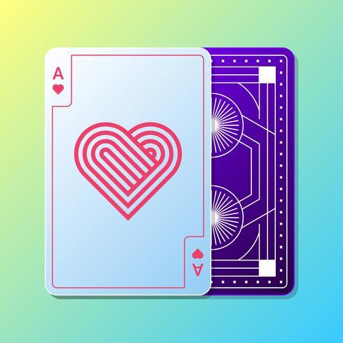 Rectangle de conception de cartes à jouer