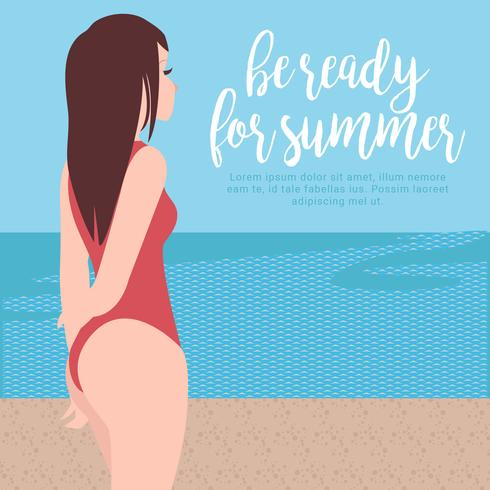 Vector Beach Bum Illustration