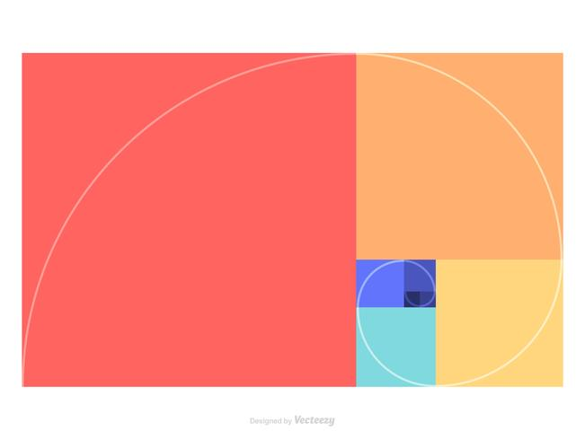 Golden Ratio Colored Template Vector
