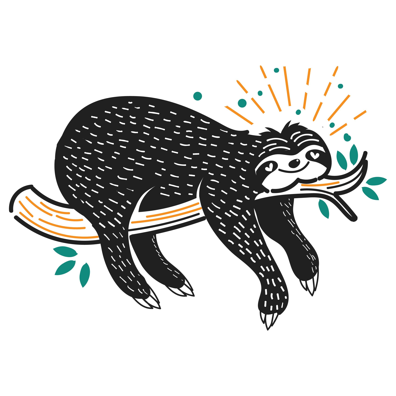 Cute Sleeping Sloth Illustration Download Free Vector