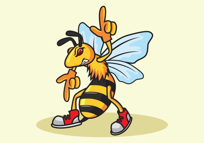 Vecteur de mascotte insectes