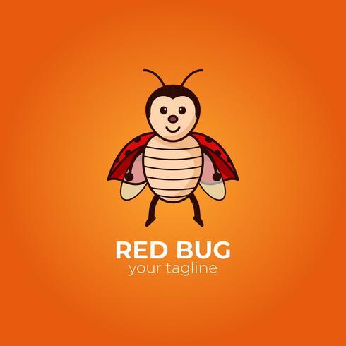 Mascote de bug vermelho