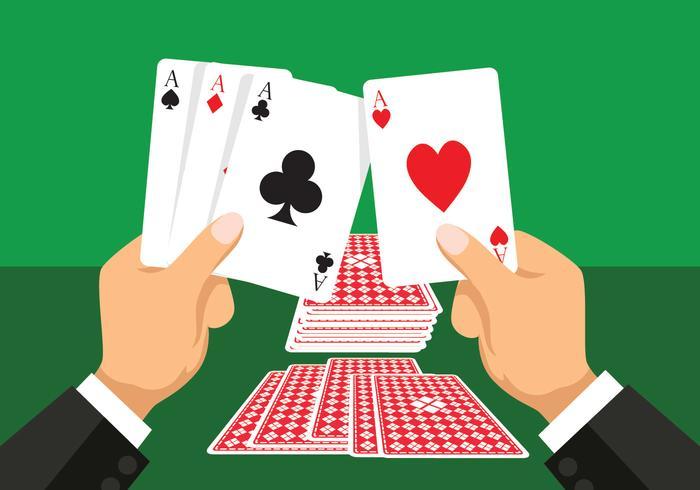 Ilustração em vetor de cartas de jogar