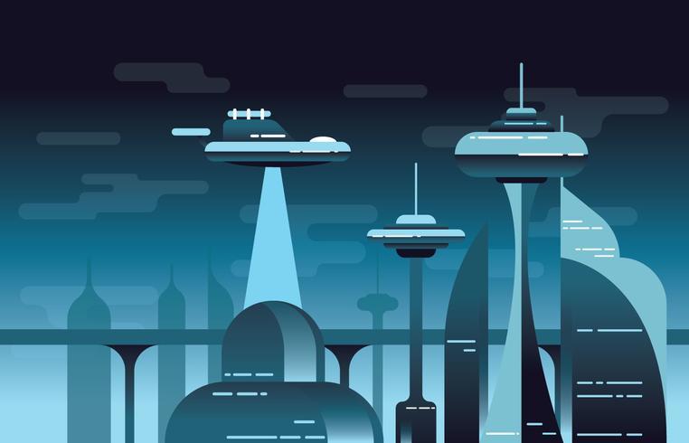 Paysage futuriste