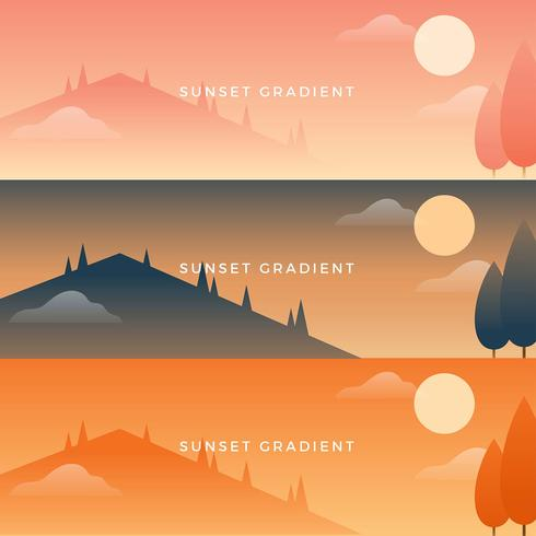 solnedgång gradient vektor