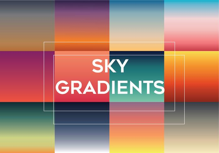 Paquete de vectores Sky Gradients