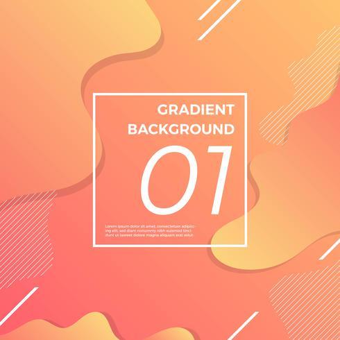 Fond de gradient futuriste avec illustration vectorielle de forme minimaliste