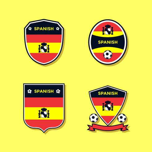 Spanish Soccer Patch Vector