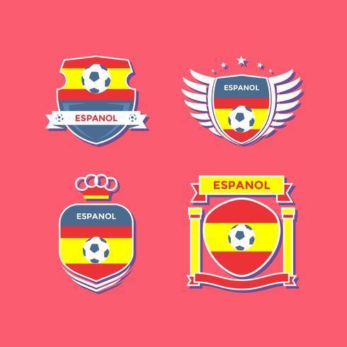 Wohnung Espanol Fußball Flecken Vektor