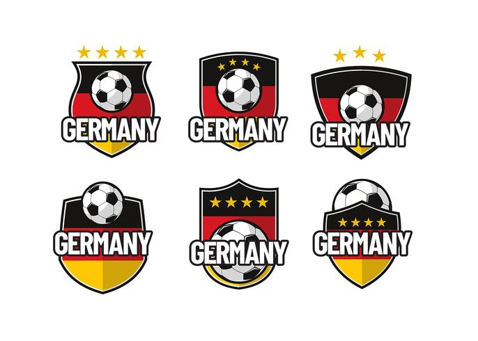 Duitsland Footbal Patch Vector