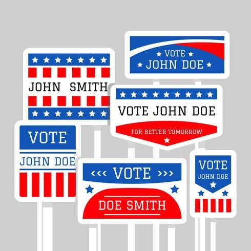 Vector de signo de campaña política