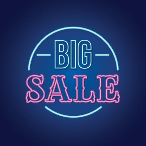 Leuchtreklame Big Sale vektor