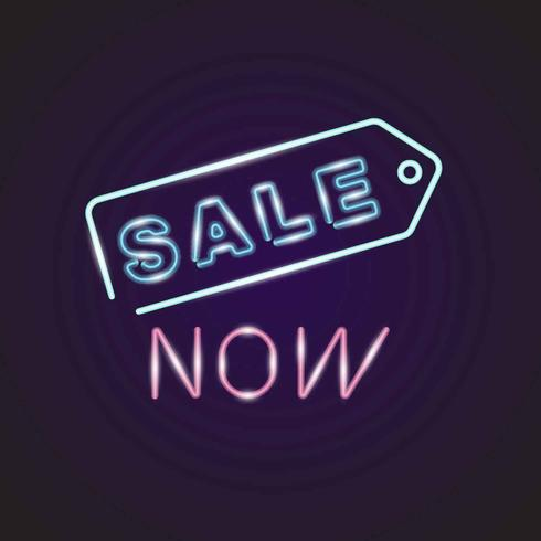 Neon Sale Sign Vector