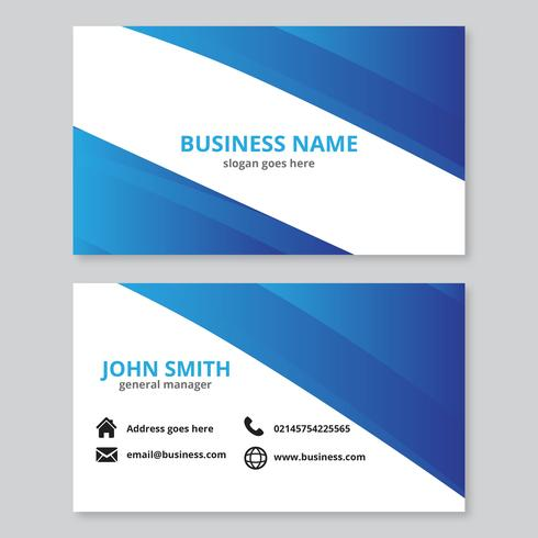 Blue Abstract Waves Business Card