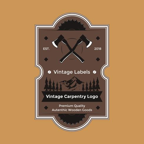 Vintage Carpentry Logo Vector