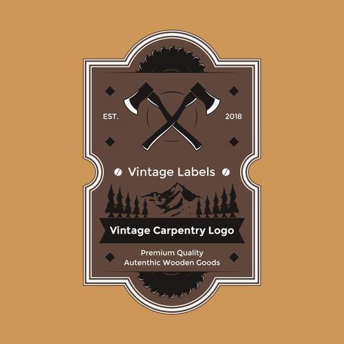 Vintage Zimmerei Logo Vektor