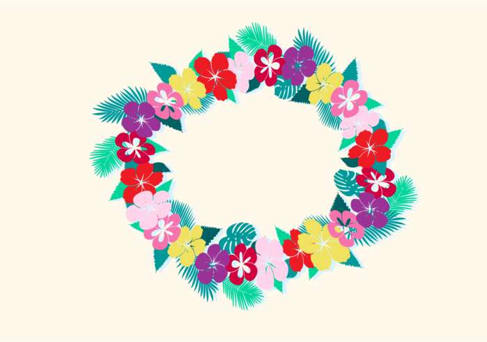 Free Vector Illustration of Hawaiian Lei
