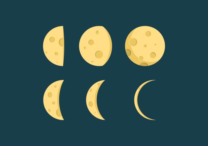 Mondphasen-Vektoren