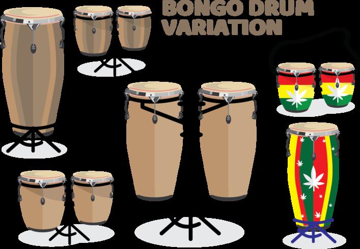 paquete de variación de tambor bongo