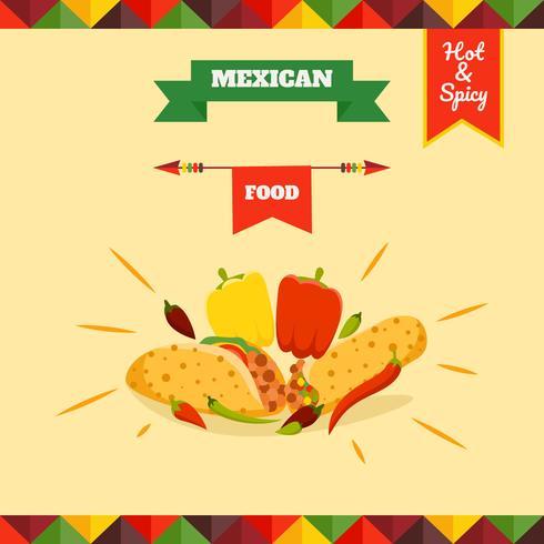 Vettori di menu cibo messicano