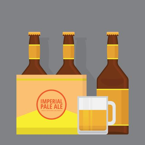 Imperial Pale Ale Bier Illustration