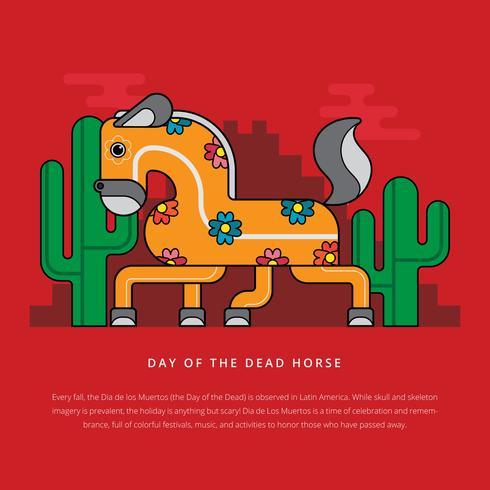 Dia do cavalo morto para ilustração de crianças