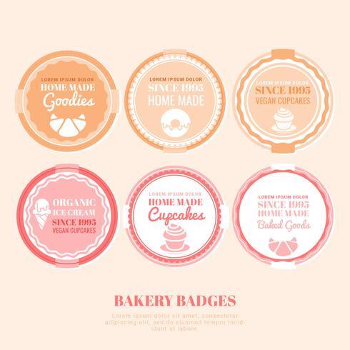 Vector insignias de panadería