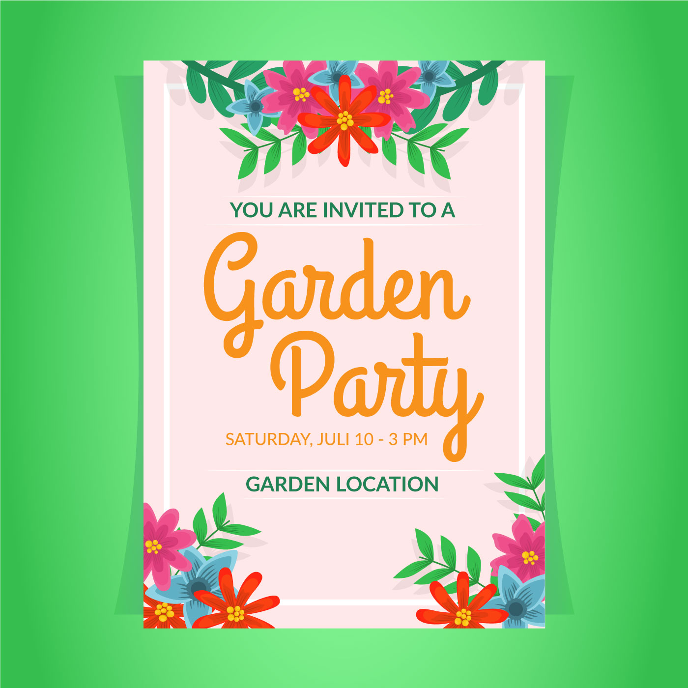Invitation Party Wedding Free Vector Graphic On Pixabay: Garden Party Invitation Template