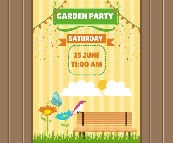 Invitación de la fiesta de primavera de jardín