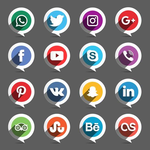 Social Media Circle Set
