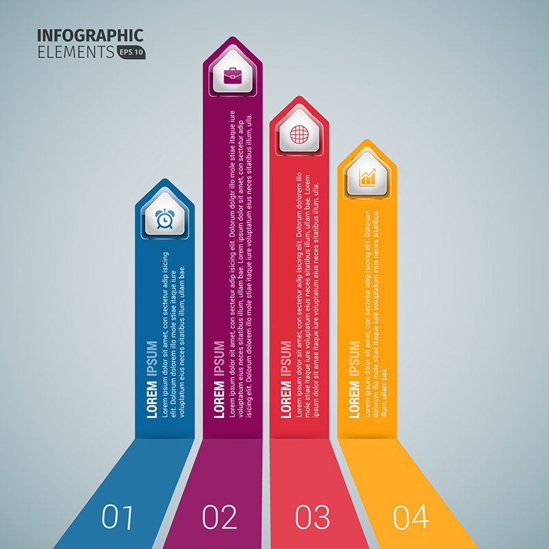 Vertical Business Arrow Infographic Templates - Download ...