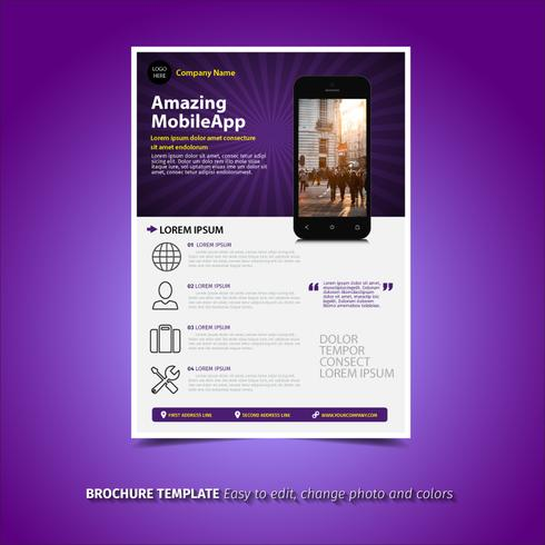 Brochura de aplicativos para dispositivos móveis