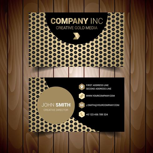 Gold Dotted Modern Business Card
