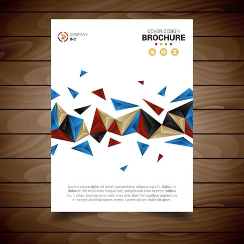 White Modern Brochure Template With Triangles
