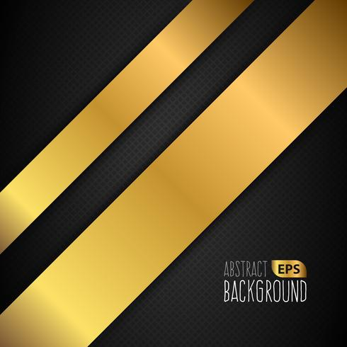 Black And Gold Lined Background