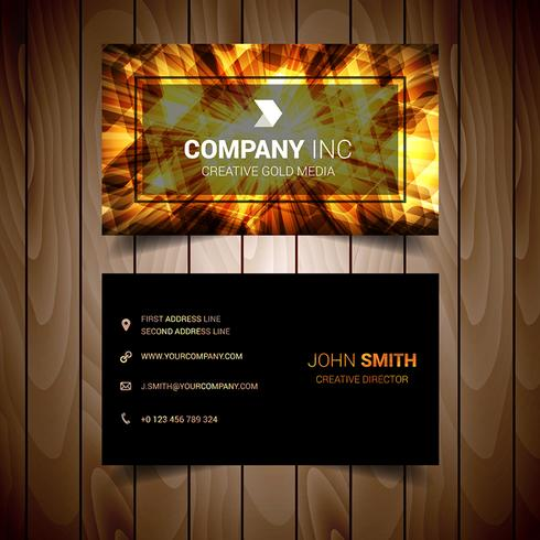 Abstract Light Elegant Business Card