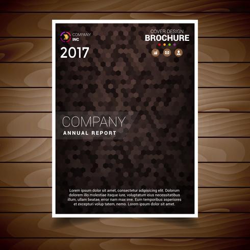 Plantilla de diseño de folleto con textura marrón