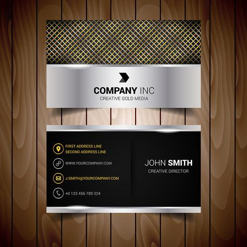 Black And Golden Abstract Business Card
