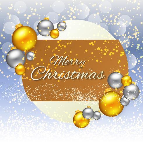 Noël avec des boules d'or et d'argent