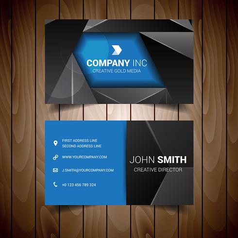 Black And Blue Triangle Business Card