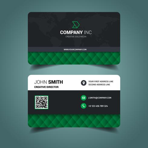 Green Elegant Business Card