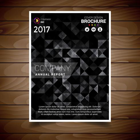 Black Triangle Abstract Brochure Design Template