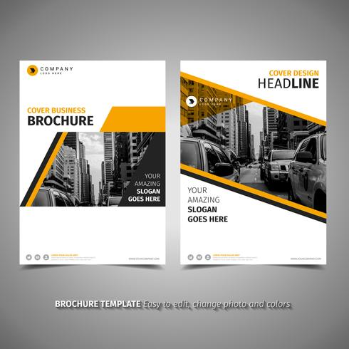 Brochure design giallo