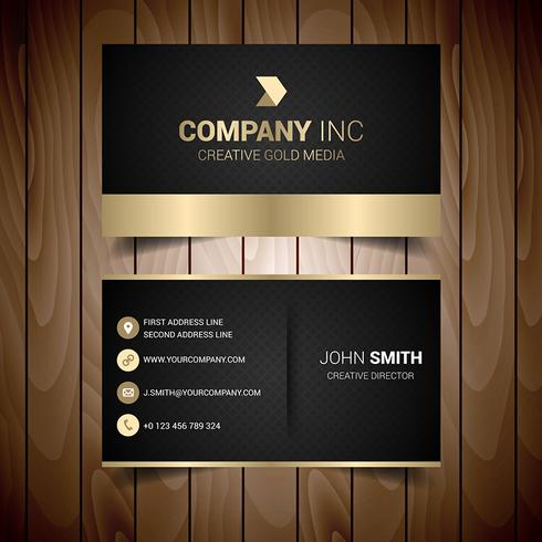 Black and gold elegant business card download free vector art black and gold elegant business card reheart Choice Image