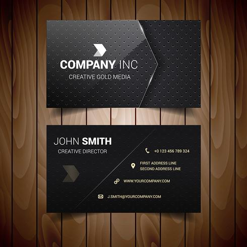 Dark Dotted Business Card