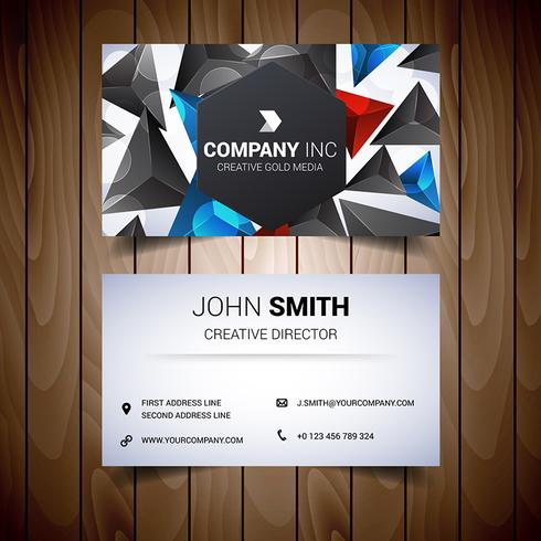 Black And Colored Elegant Business Card