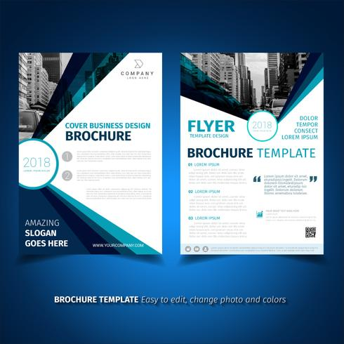 business brochure flyer design template download free vector art