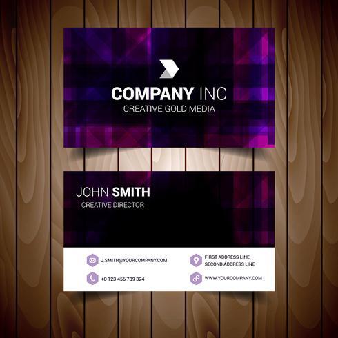 Purple Modern Business Card