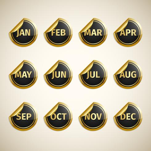 Months On Golden And Black