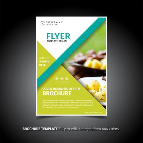 Groen ontwerp van de brochure